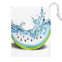Fruit Water Slice Watermelon Drawstring Pouches (xxl) by Alisyart