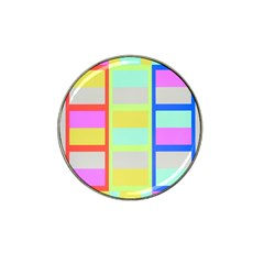 Maximum Color Rainbow Red Blue Yellow Grey Pink Plaid Flag Hat Clip Ball Marker (10 Pack) by Alisyart