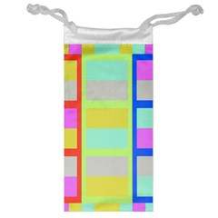 Maximum Color Rainbow Red Blue Yellow Grey Pink Plaid Flag Jewelry Bag by Alisyart