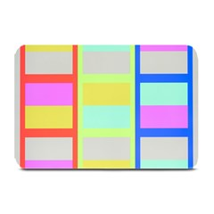 Maximum Color Rainbow Red Blue Yellow Grey Pink Plaid Flag Plate Mats by Alisyart