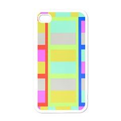 Maximum Color Rainbow Red Blue Yellow Grey Pink Plaid Flag Apple Iphone 4 Case (white) by Alisyart