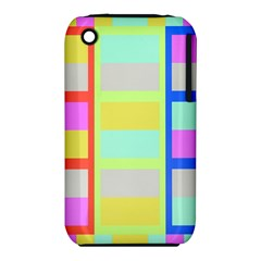Maximum Color Rainbow Red Blue Yellow Grey Pink Plaid Flag Iphone 3s/3gs by Alisyart