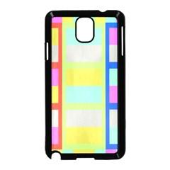 Maximum Color Rainbow Red Blue Yellow Grey Pink Plaid Flag Samsung Galaxy Note 3 Neo Hardshell Case (black) by Alisyart