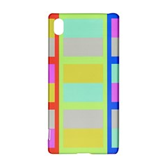 Maximum Color Rainbow Red Blue Yellow Grey Pink Plaid Flag Sony Xperia Z3+ by Alisyart