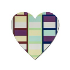 Maximum Color Rainbow Brown Blue Purple Grey Plaid Flag Heart Magnet by Alisyart