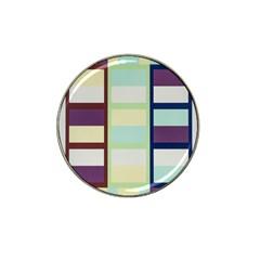 Maximum Color Rainbow Brown Blue Purple Grey Plaid Flag Hat Clip Ball Marker by Alisyart