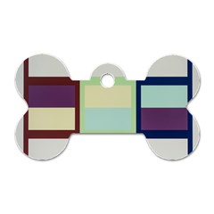 Maximum Color Rainbow Brown Blue Purple Grey Plaid Flag Dog Tag Bone (two Sides) by Alisyart