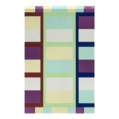 Maximum Color Rainbow Brown Blue Purple Grey Plaid Flag Shower Curtain 48  X 72  (small)  by Alisyart