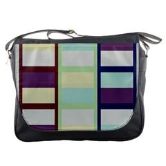 Maximum Color Rainbow Brown Blue Purple Grey Plaid Flag Messenger Bags by Alisyart