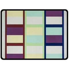 Maximum Color Rainbow Brown Blue Purple Grey Plaid Flag Double Sided Fleece Blanket (large)  by Alisyart