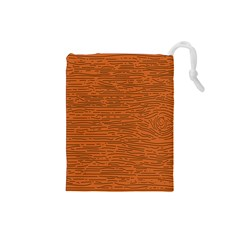 Illustration Orange Grains Line Drawstring Pouches (small)  by Alisyart