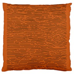 Illustration Orange Grains Line Standard Flano Cushion Case (two Sides) by Alisyart