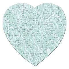 Leaf Blue Jigsaw Puzzle (heart) by Alisyart