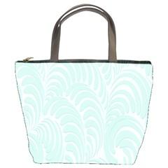 Leaf Blue Bucket Bags by Alisyart