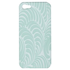 Leaf Blue Apple Iphone 5 Hardshell Case by Alisyart
