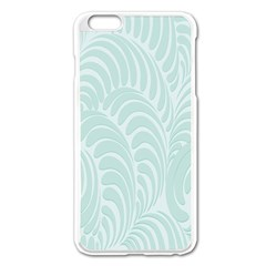 Leaf Blue Apple Iphone 6 Plus/6s Plus Enamel White Case by Alisyart