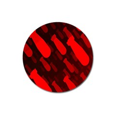 Missile Rockets Red Magnet 3  (round) by Alisyart