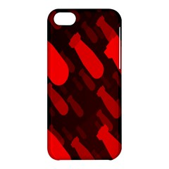 Missile Rockets Red Apple Iphone 5c Hardshell Case by Alisyart