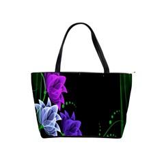 Neon Flowers Floral Rose Light Green Purple White Pink Sexy Shoulder Handbags by Alisyart