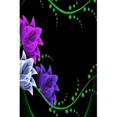 Neon Flowers Floral Rose Light Green Purple White Pink Sexy 5 5  X 8 5  Notebooks by Alisyart