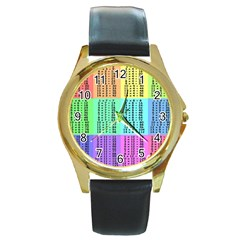 Multiplication Printable Table Color Rainbow Round Gold Metal Watch by Alisyart