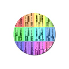 Multiplication Printable Table Color Rainbow Magnet 3  (round) by Alisyart