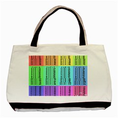 Multiplication Printable Table Color Rainbow Basic Tote Bag by Alisyart
