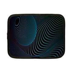 Line Light Blue Green Purple Circle Hole Wave Waves Netbook Case (small)  by Alisyart