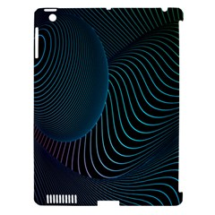 Line Light Blue Green Purple Circle Hole Wave Waves Apple Ipad 3/4 Hardshell Case (compatible With Smart Cover) by Alisyart