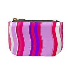Pink Wave Purple Line Light Mini Coin Purses by Alisyart