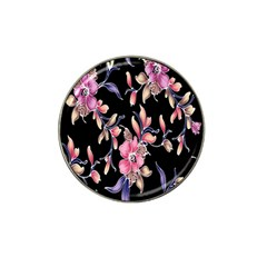 Neon Flowers Rose Sunflower Pink Purple Black Hat Clip Ball Marker by Alisyart