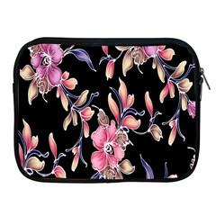 Neon Flowers Rose Sunflower Pink Purple Black Apple Ipad 2/3/4 Zipper Cases by Alisyart