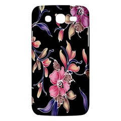 Neon Flowers Rose Sunflower Pink Purple Black Samsung Galaxy Mega 5 8 I9152 Hardshell Case  by Alisyart