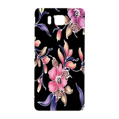 Neon Flowers Rose Sunflower Pink Purple Black Samsung Galaxy Alpha Hardshell Back Case by Alisyart