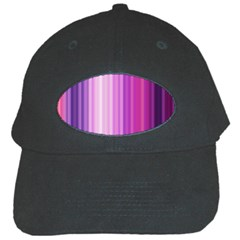Pink Vertical Color Rainbow Purple Red Pink Line Black Cap by Alisyart
