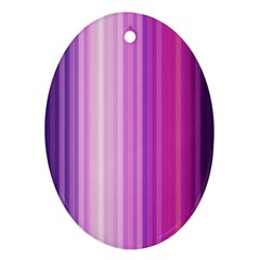 Pink Vertical Color Rainbow Purple Red Pink Line Oval Ornament (two Sides) by Alisyart