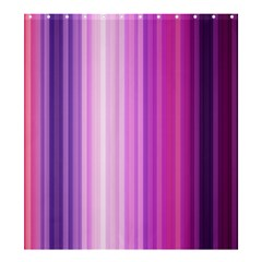 Pink Vertical Color Rainbow Purple Red Pink Line Shower Curtain 66  X 72  (large)  by Alisyart