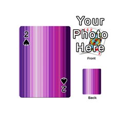 Pink Vertical Color Rainbow Purple Red Pink Line Playing Cards 54 (mini)  by Alisyart