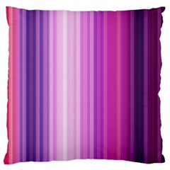 Pink Vertical Color Rainbow Purple Red Pink Line Large Cushion Case (one Side) by Alisyart