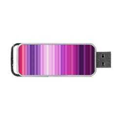 Pink Vertical Color Rainbow Purple Red Pink Line Portable Usb Flash (two Sides) by Alisyart