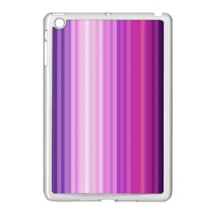 Pink Vertical Color Rainbow Purple Red Pink Line Apple Ipad Mini Case (white) by Alisyart