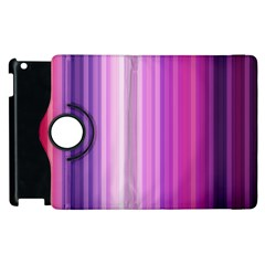Pink Vertical Color Rainbow Purple Red Pink Line Apple Ipad 3/4 Flip 360 Case by Alisyart