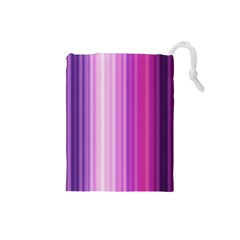 Pink Vertical Color Rainbow Purple Red Pink Line Drawstring Pouches (small)  by Alisyart