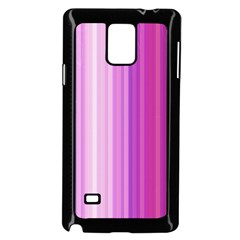 Pink Vertical Color Rainbow Purple Red Pink Line Samsung Galaxy Note 4 Case (black) by Alisyart
