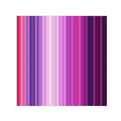 Pink Vertical Color Rainbow Purple Red Pink Line Small Satin Scarf (square) by Alisyart