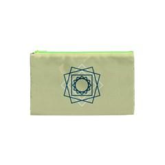Shape Experimen Geometric Star Plaid Sign Cosmetic Bag (xs) by Alisyart