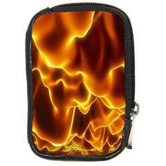 Sea Fire Orange Yellow Gold Wave Waves Compact Camera Cases by Alisyart