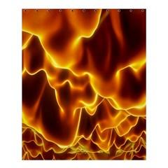Sea Fire Orange Yellow Gold Wave Waves Shower Curtain 60  X 72  (medium)  by Alisyart
