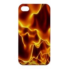 Sea Fire Orange Yellow Gold Wave Waves Apple Iphone 4/4s Premium Hardshell Case by Alisyart