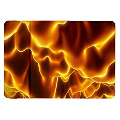 Sea Fire Orange Yellow Gold Wave Waves Samsung Galaxy Tab 8 9  P7300 Flip Case by Alisyart